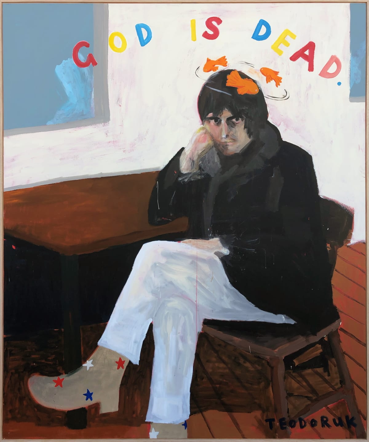 Brad Teodoruk, God Is Dead... Something Something... Gold Fish Swimming' Round Me Head, 2019