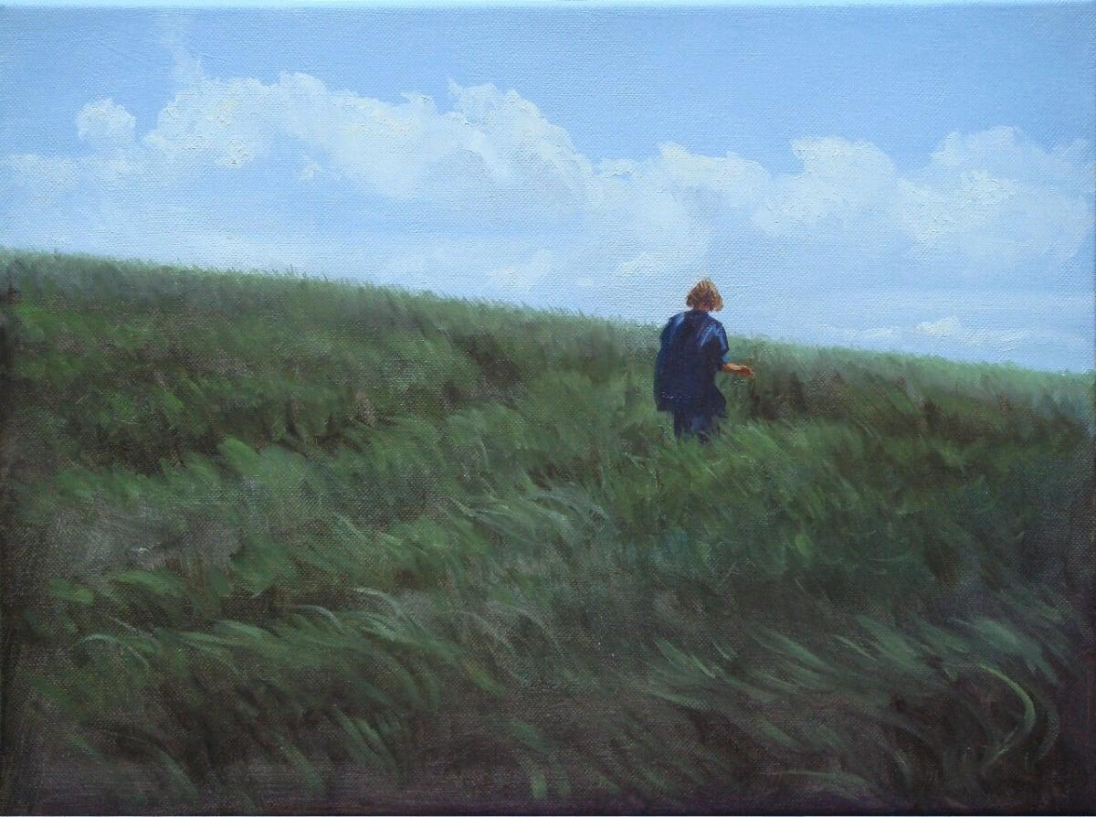 Carl Laubin The Path from Charlton (study) oil on canvas 30 x 40.5 cm