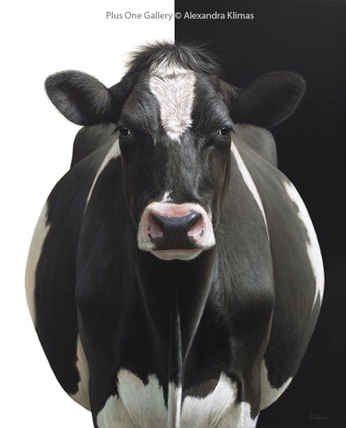 Alexandra Klimas Olivia the Cow, 2018 Oil on canvas 100 x 80 cm