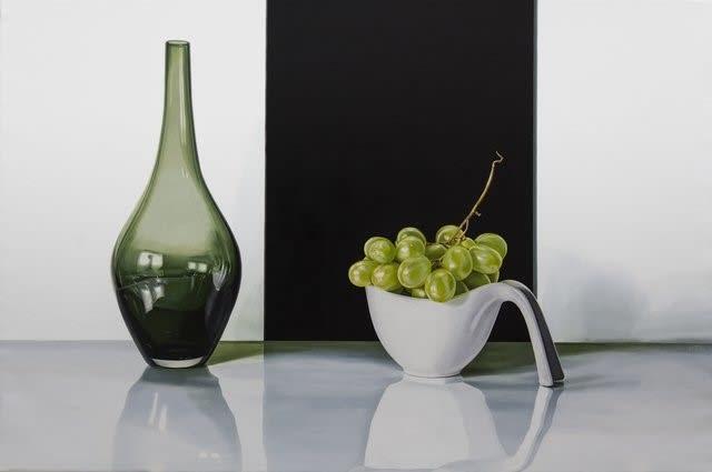 Elena Molinari Green Grapes Oil on canvas 97 x 146 cm