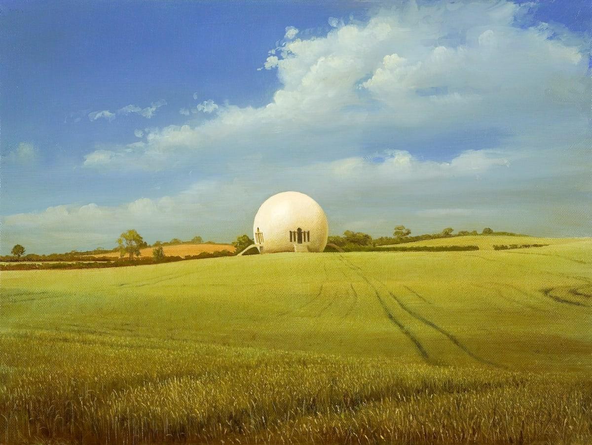 Carl Laubin MAISON DES GARDES AGRICOLES oil on canvas 30 x 40 cm
