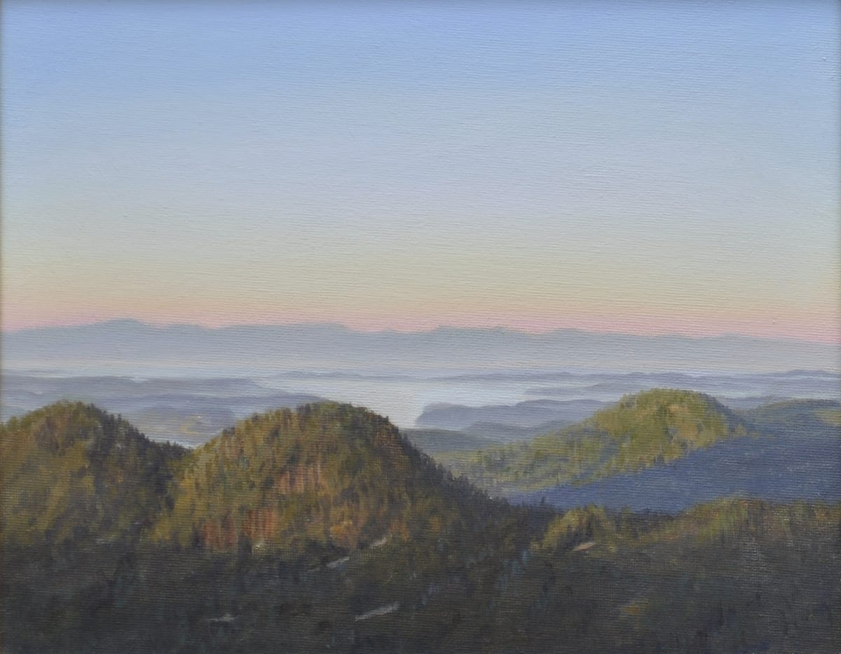 Carl Laubin The San Juan Islands from Mount Constitution 2 Oil on canvas 25 x 30 cm