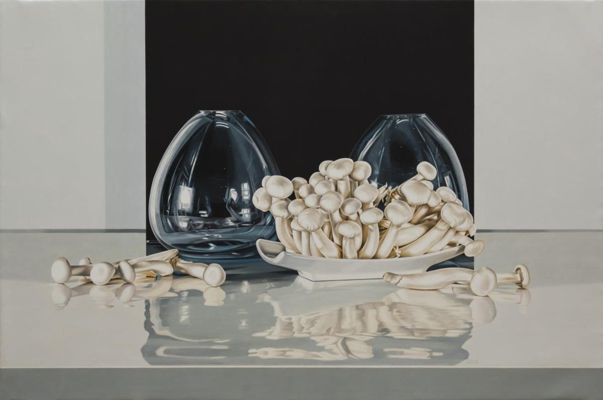 Elena Molinari Shimeiji and Crystals Oil on Canvas 97 x 146 cm