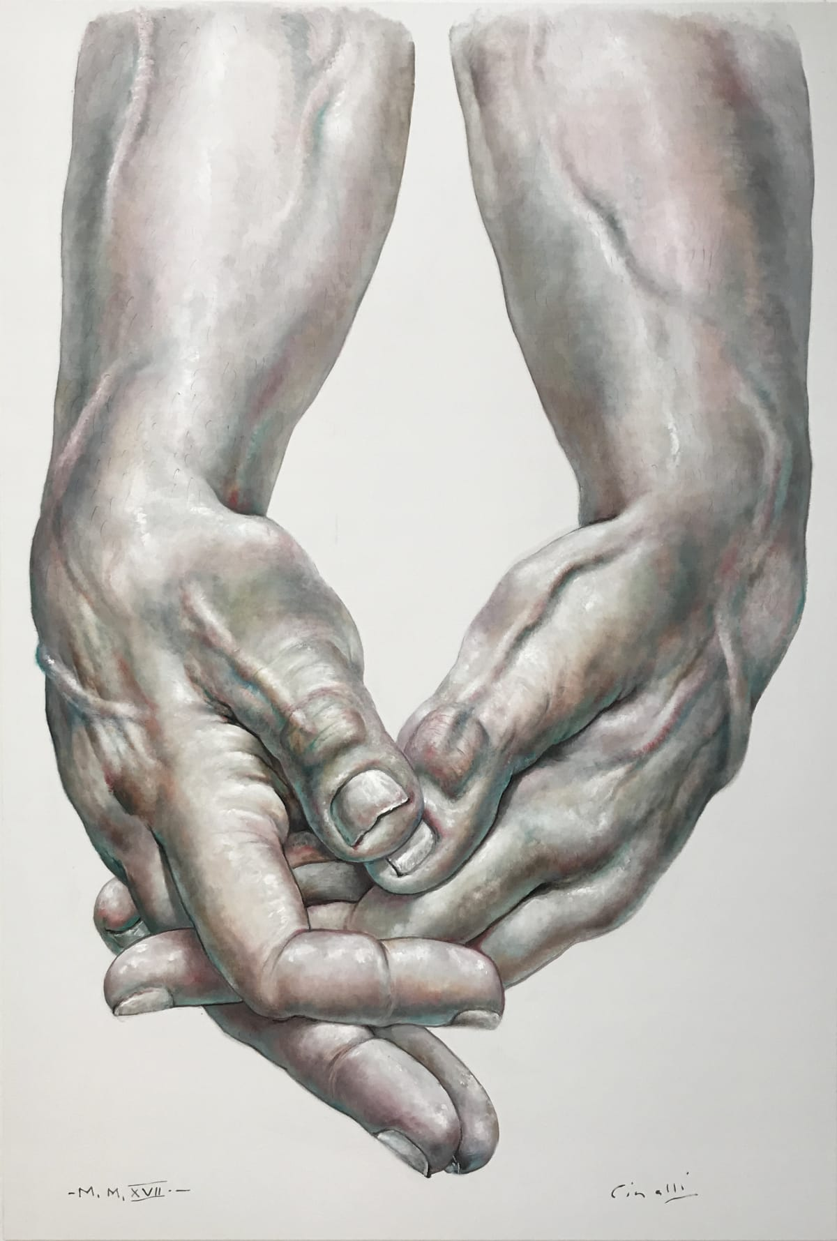 Ricardo Cinalli Contemplation Oil on canvas 206 x 140 cm