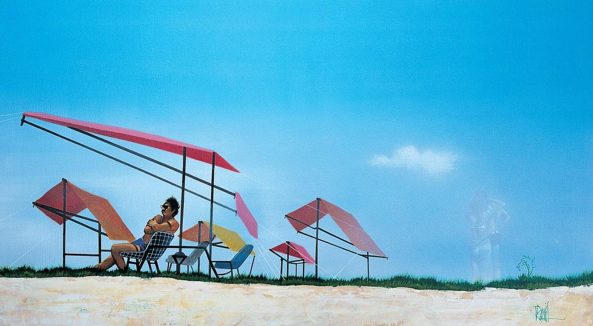Mike Francis Memory Man Acrylic on canvas 51 x 91 cm