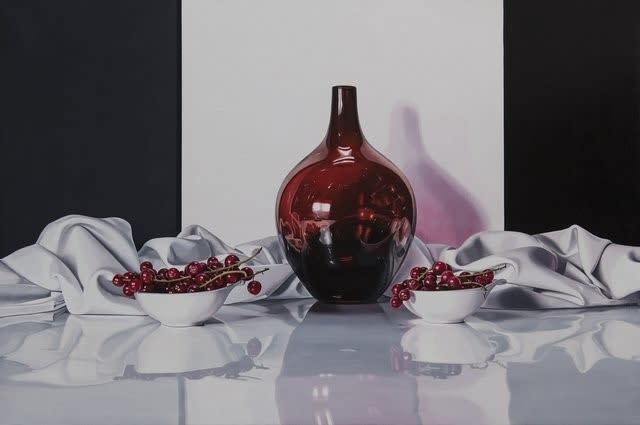 Elena Molinari Red Caprice Oil on canvas 97 x 146 cm