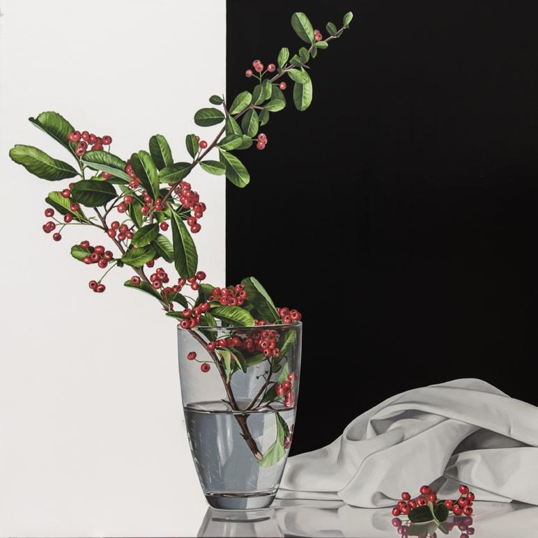 Elena Molinari Small Twig Oil on Canvas 120 x 120 cm