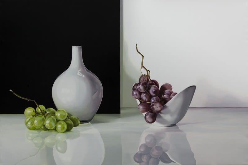 Elena Molinari Different Grapes Oil on Canvas 97 x 146 cm