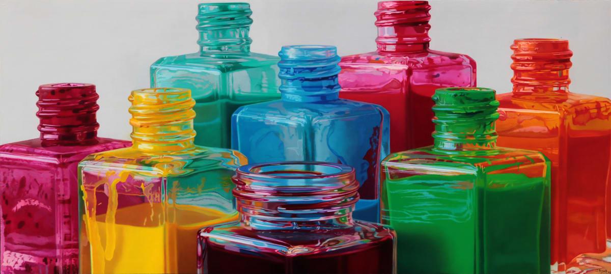 Javier Banegas Colour Skyline III Oil on board 85 x 190 cm