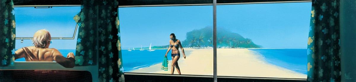 Mike Francis Cara-bbean Acrylic on canvas 30 x 127 cm