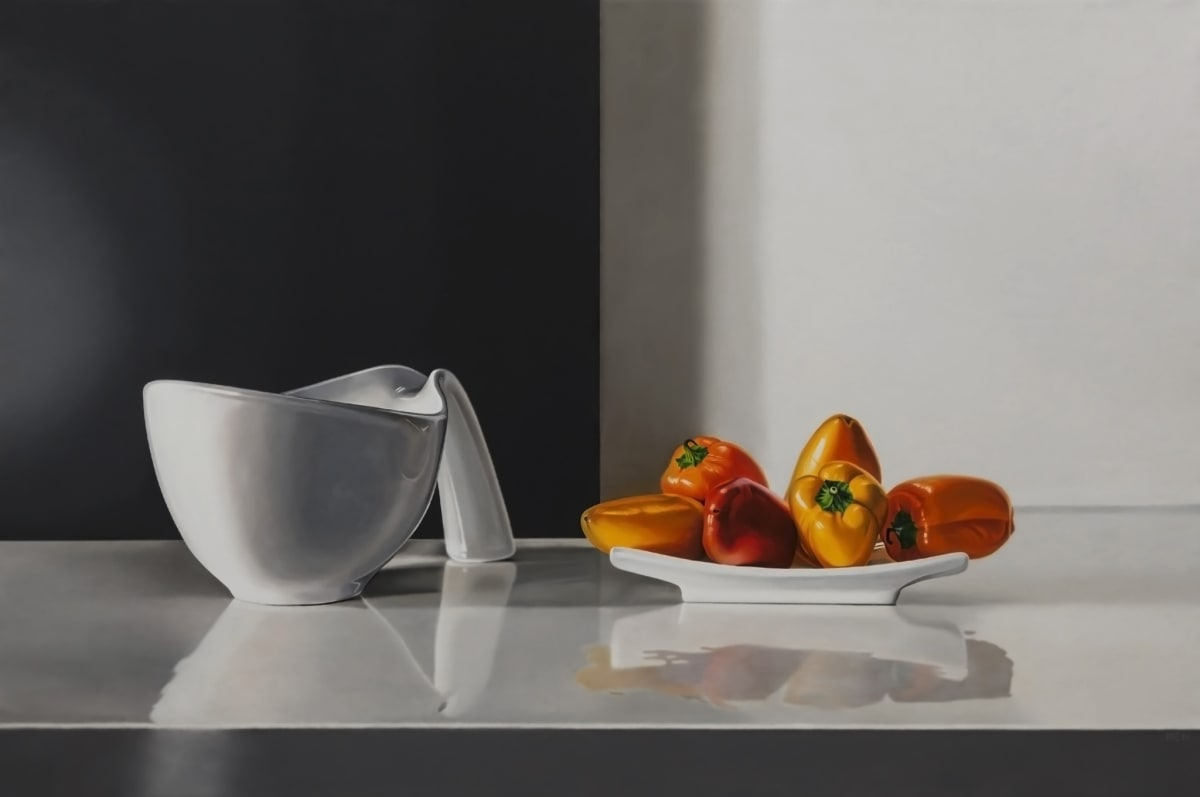 Elena Molinari Little Peppers Oil on Canvas 97 x 146 cm