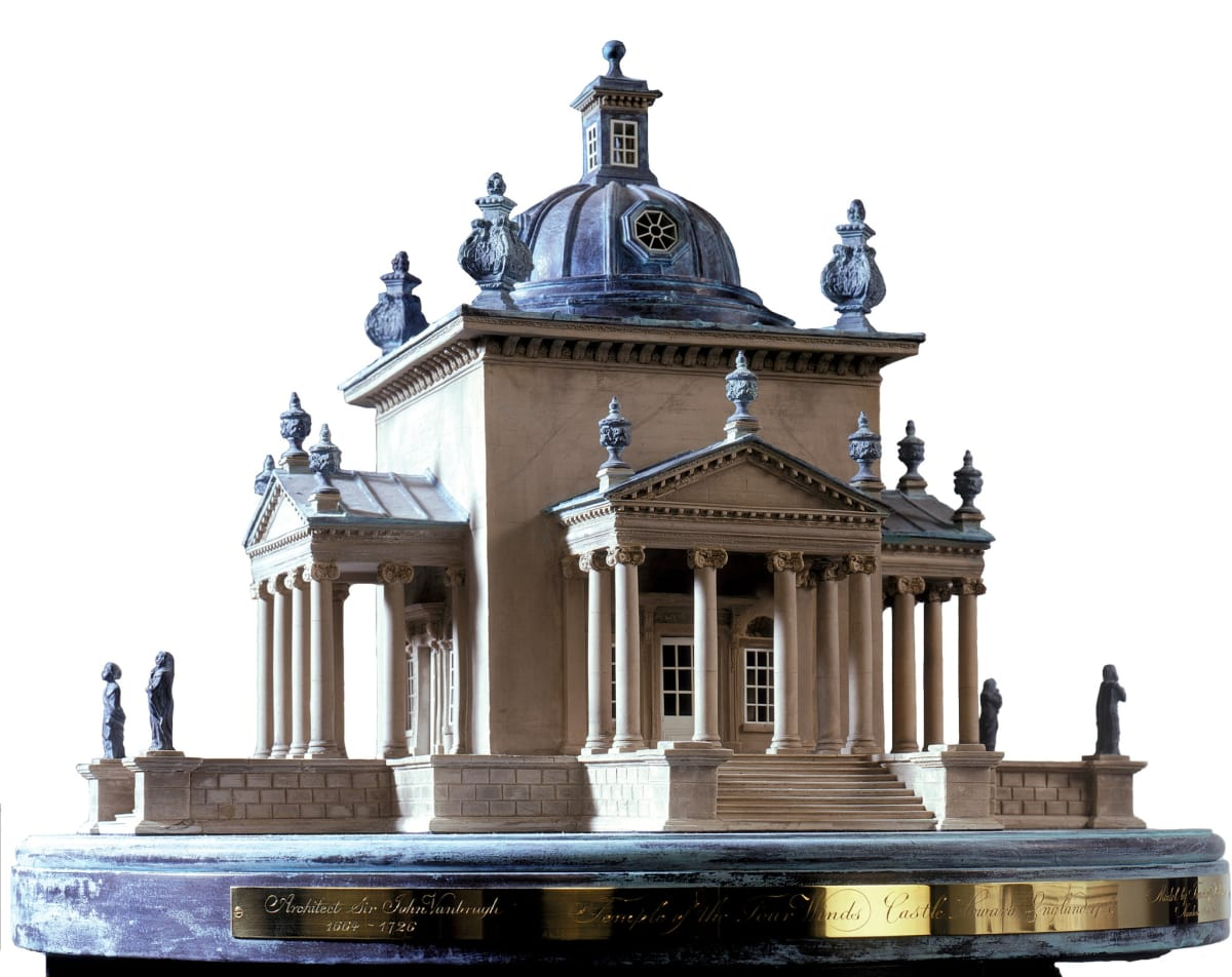 Tim Richards Temple of the Four Winds, Edition of 50 Plaster and etched brass 42 x 50 x 50 cm