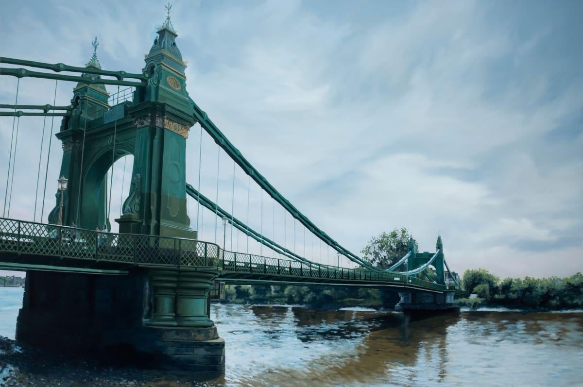 Francisco Rangel Hammersmith Bridge oil on canvas 195 x 130 cm