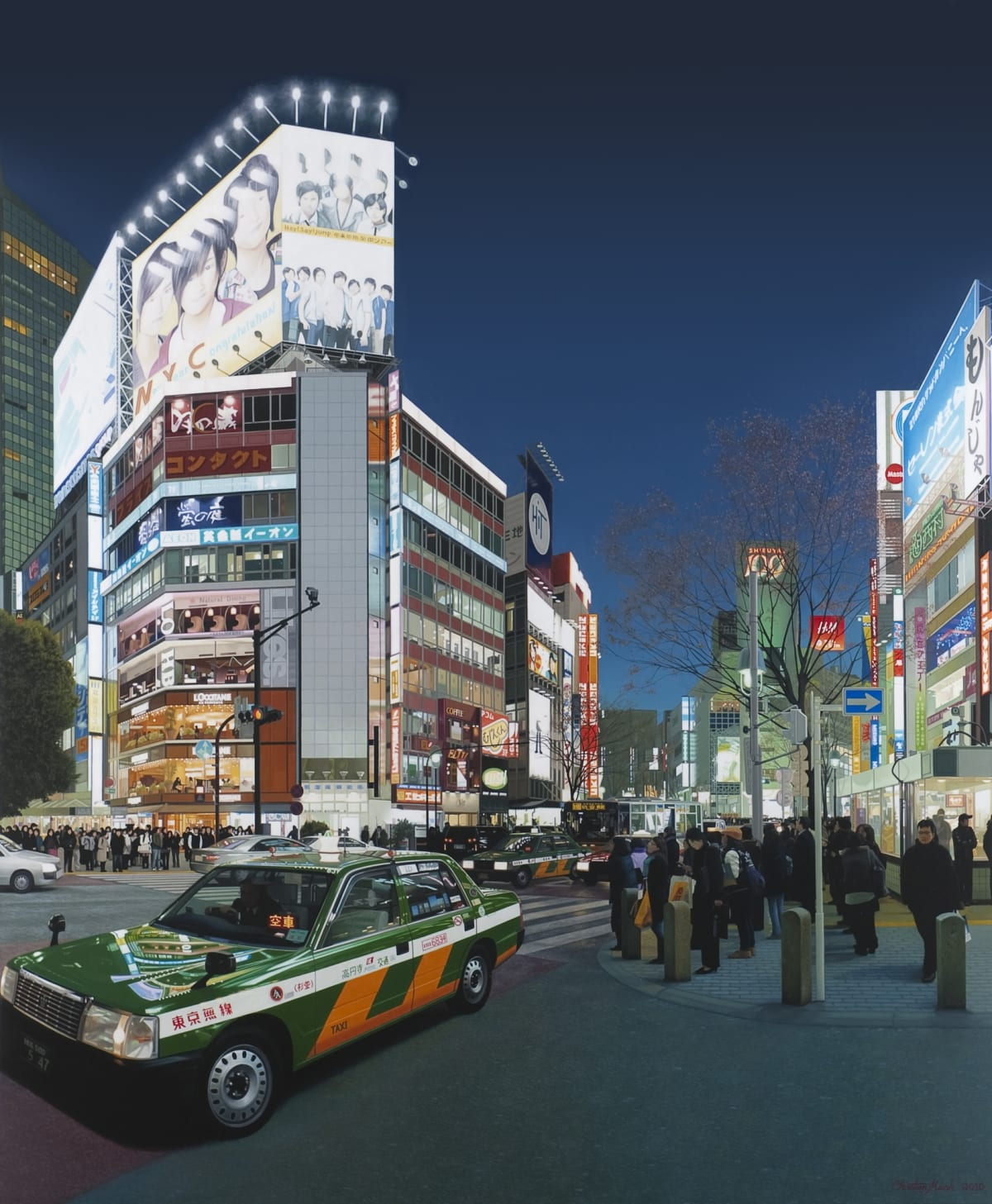 Christian Marsh Shibuya Crossing at Night, Tokyo Oil on canvas 170 x 140 cm