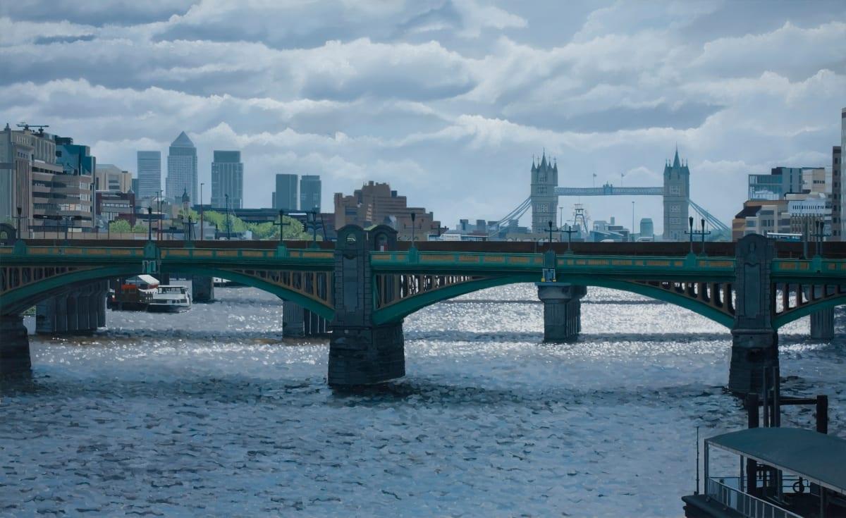 Francisco Rangel Southwark Bridge oil on canvas 146 x 89 cm