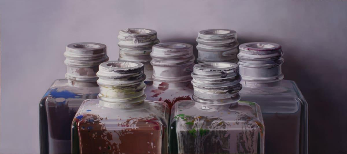 Javier Banegas Colours IX Oil on board 85 x 190 cm