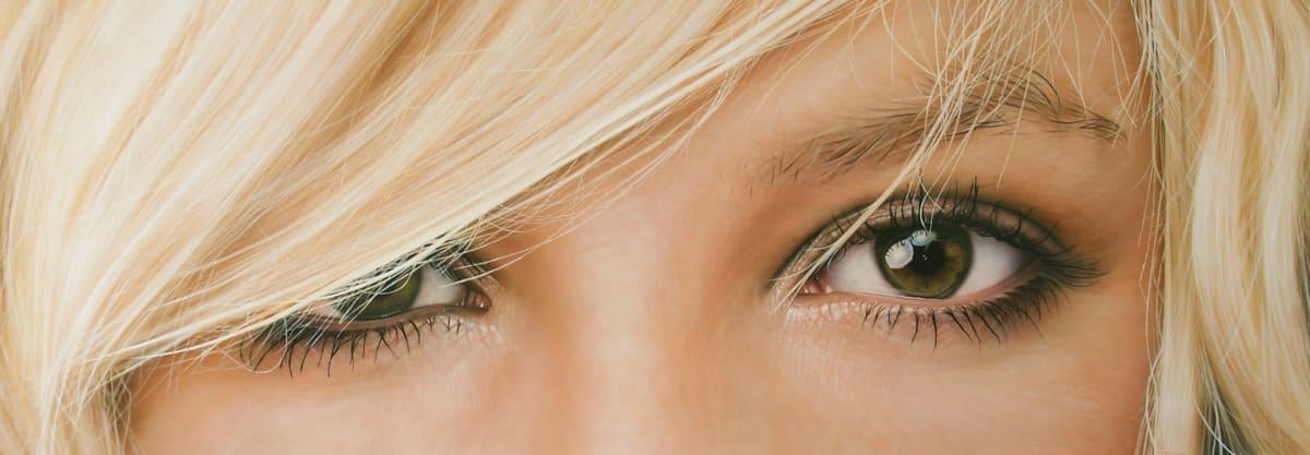 Simon Hennessey Blonde Hair Green Eyes Acrylic on board 51 x 145 cm