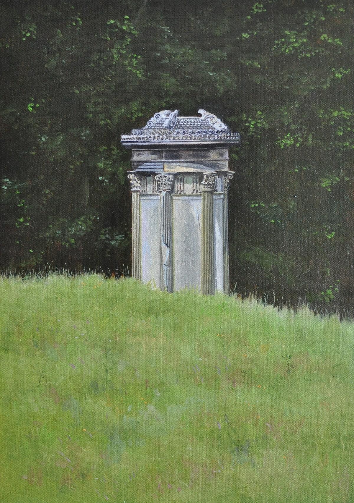 Carl Laubin The Choregic Monument, Shugborough Oil on canvas 36 x 25 cm