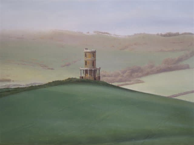 Carl Laubin Clavell Tower oil on canvas 30 x 40 cm