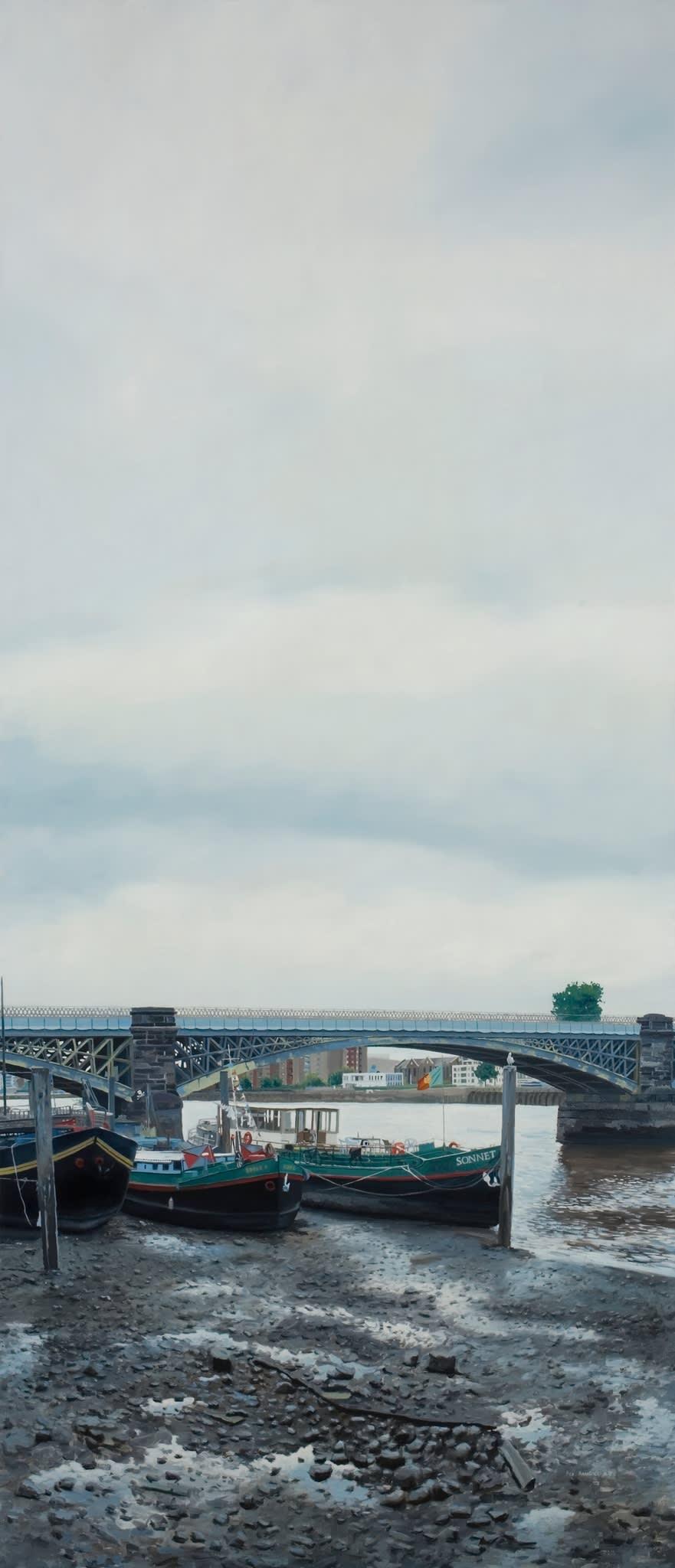Francisco Rangel Battersea Railway Bridge oil on canvas 83 x 195 cm