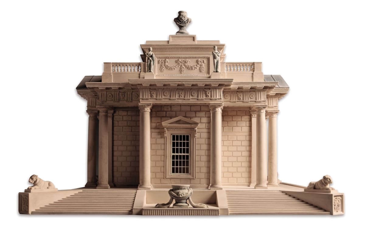 Tim Richards Casino Building, Dublin Plaster and etched brass 25.5 x 35 x 35.5 cm