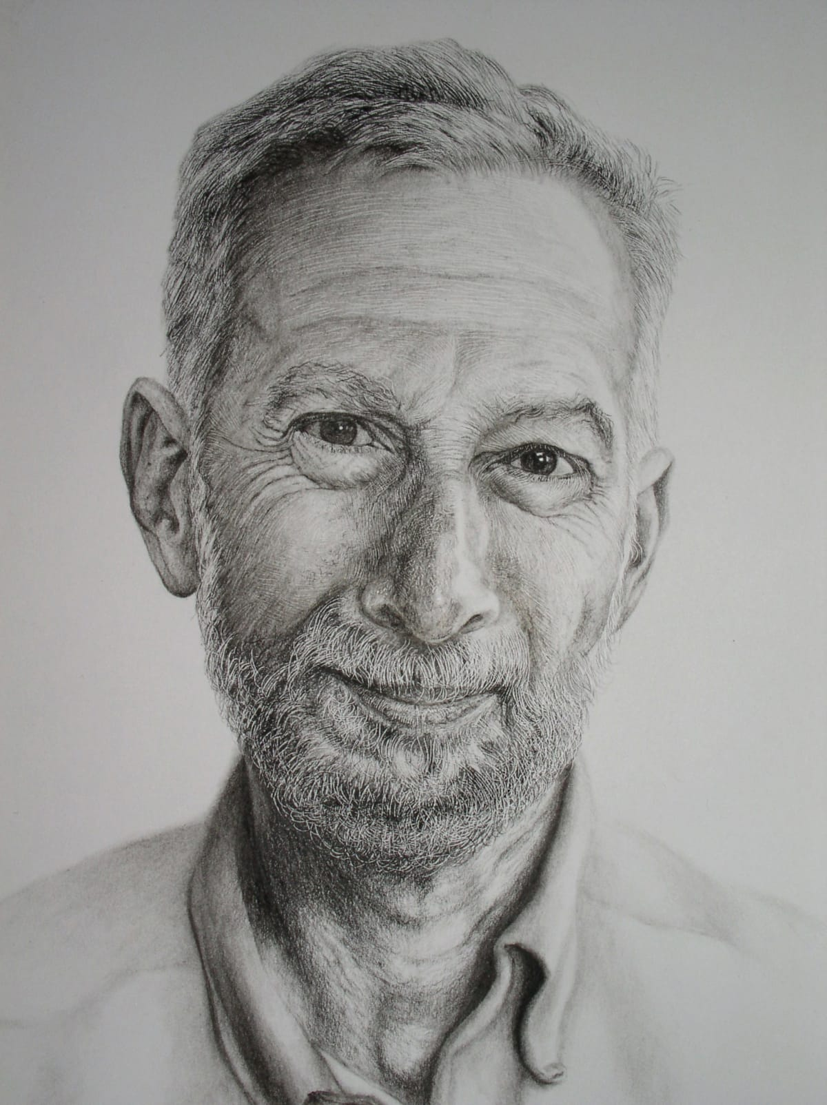 "Andrew Tift Willian Friedman (study of a Scientist - Los Alamos) Charcoal, carbon graphite 23 x 19"" 58.5 x 48.25 cm"