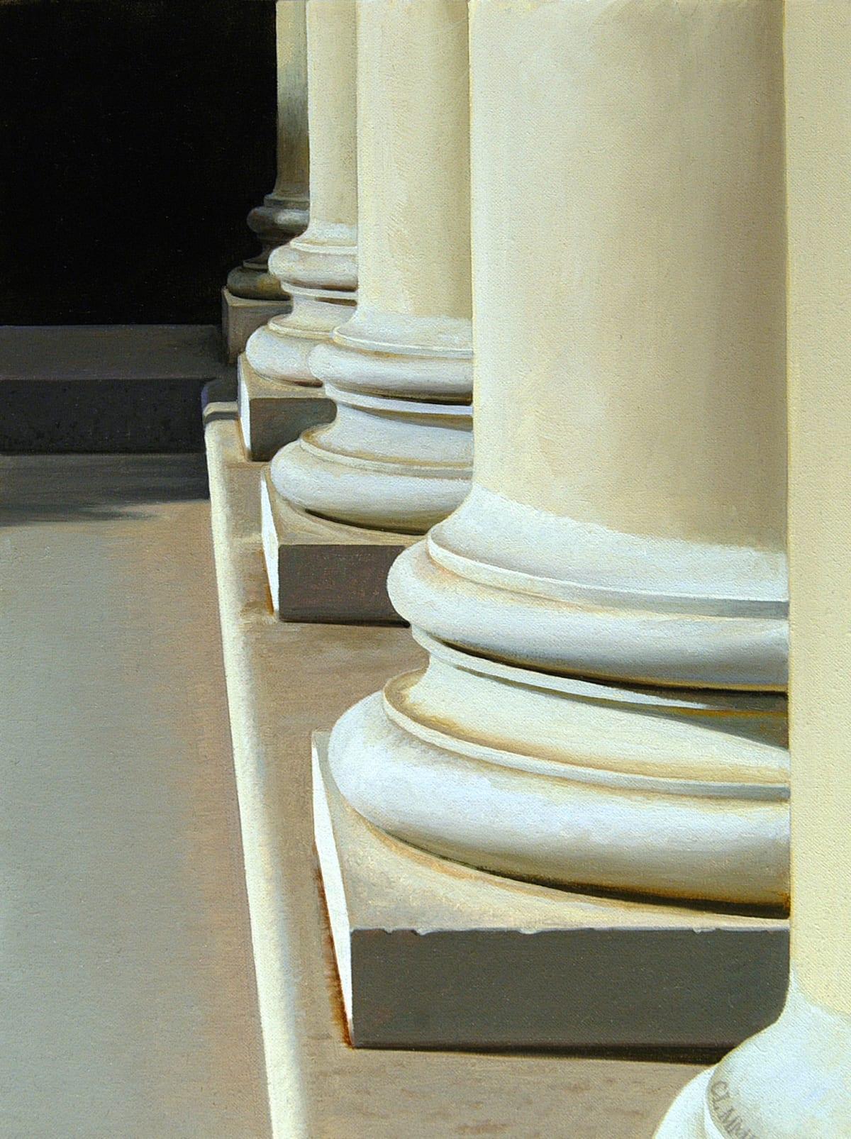 Carl Laubin Villa Rotunda Columns oil on canvas 40 x 30 cm