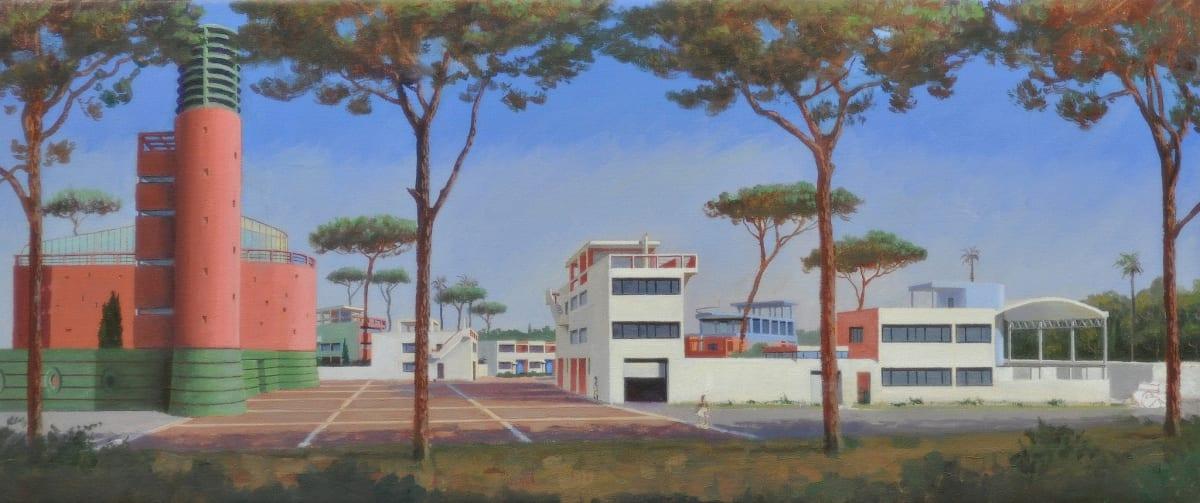 Carl Laubin Pessac Study, 2014 Oil on canvas 25.5 x 61 cm