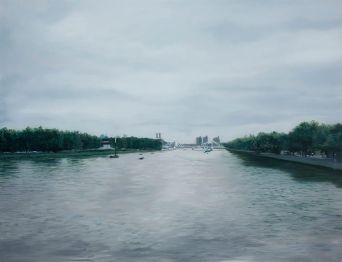 Francisco Rangel Albert Bridge from a Distant Oil on Canvas 119 x 89 cm