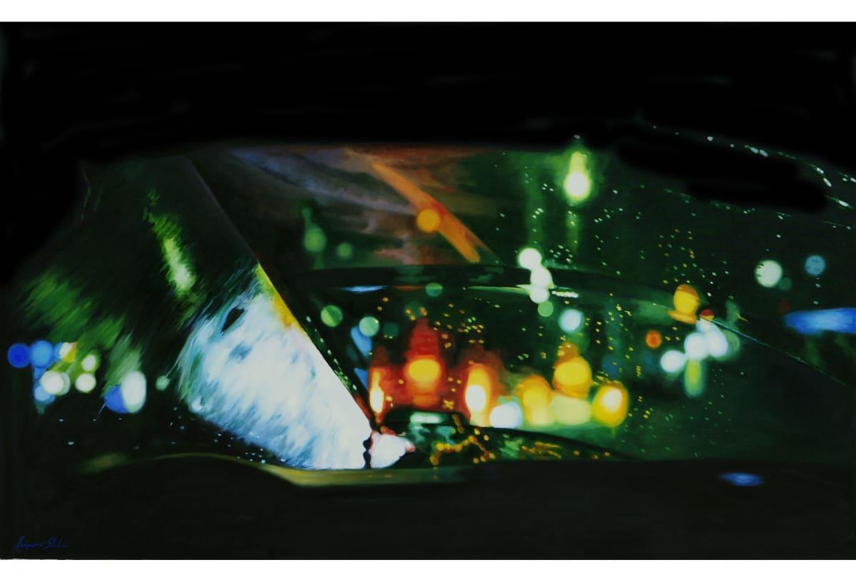 Francesco Stile Disco Oil on canvas 70 x 110 cm