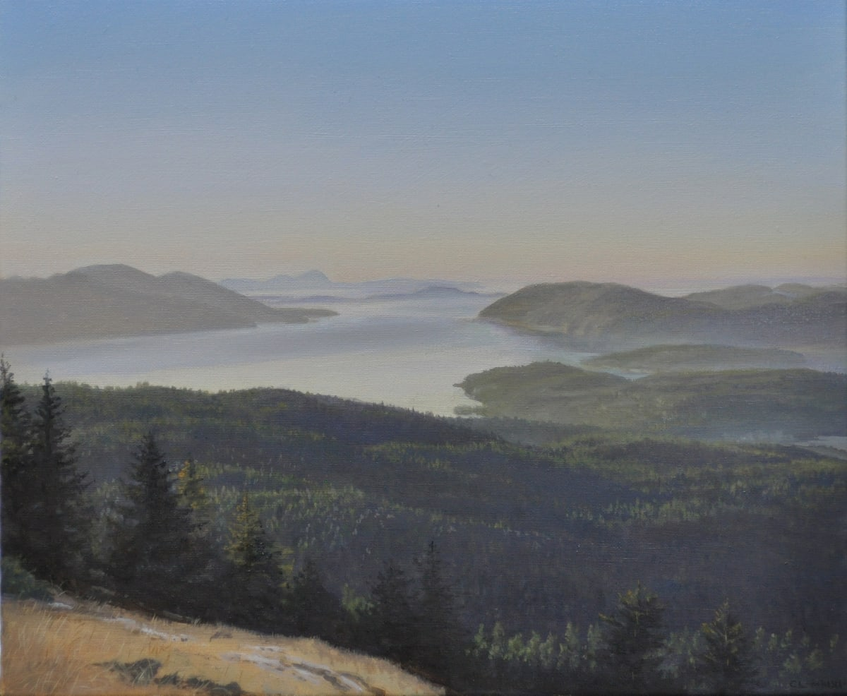 Carl Laubin The San Juan Islands from Mount Constitution 1 Oil on canvas 25 x 30 cm