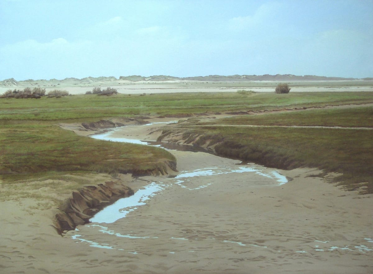 "Carl Laubin Estuary 2 Oil on canvas 43.7 x 59.8"" 111 x 152 cm"