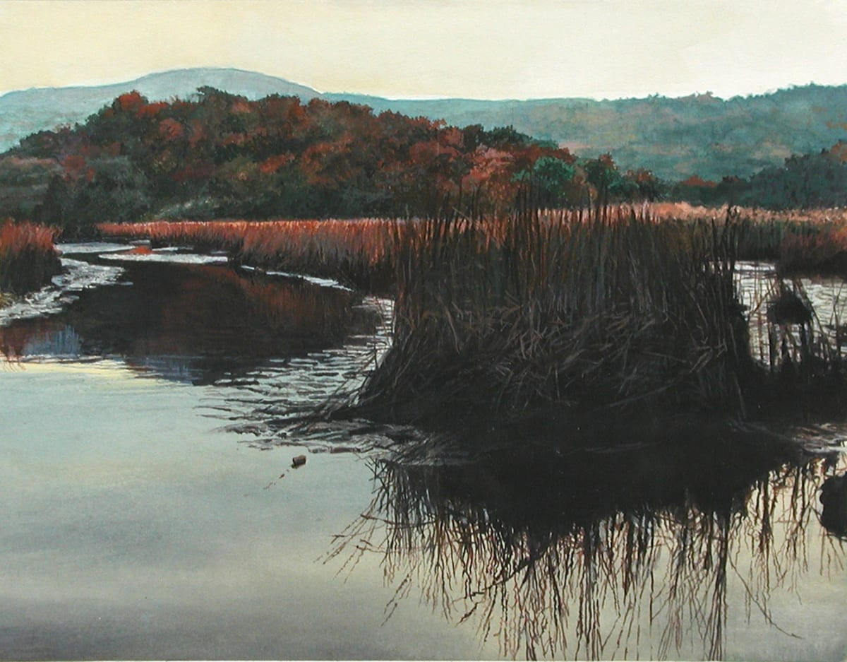 James Van Patten Day Gone Watercolour paper 27 x 34 cm