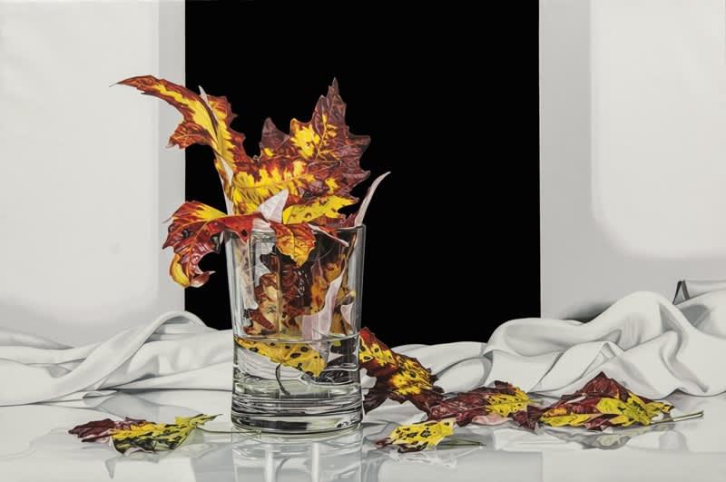 Elena Molinari Autumn Leaves Oil on Canvas 97 x 146 cm