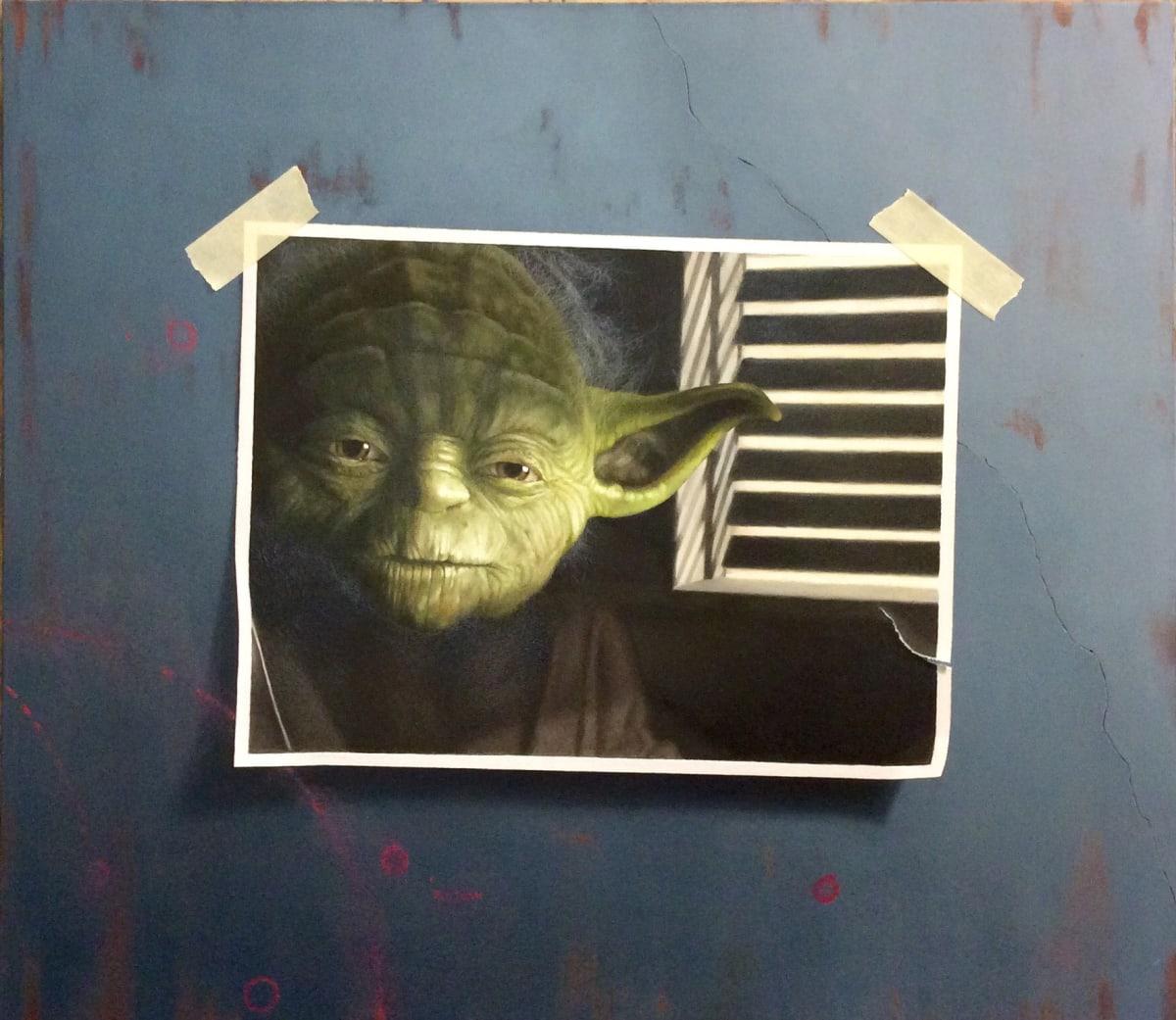 Otto Duecker Yoda Oil on board 35 x 41 cm