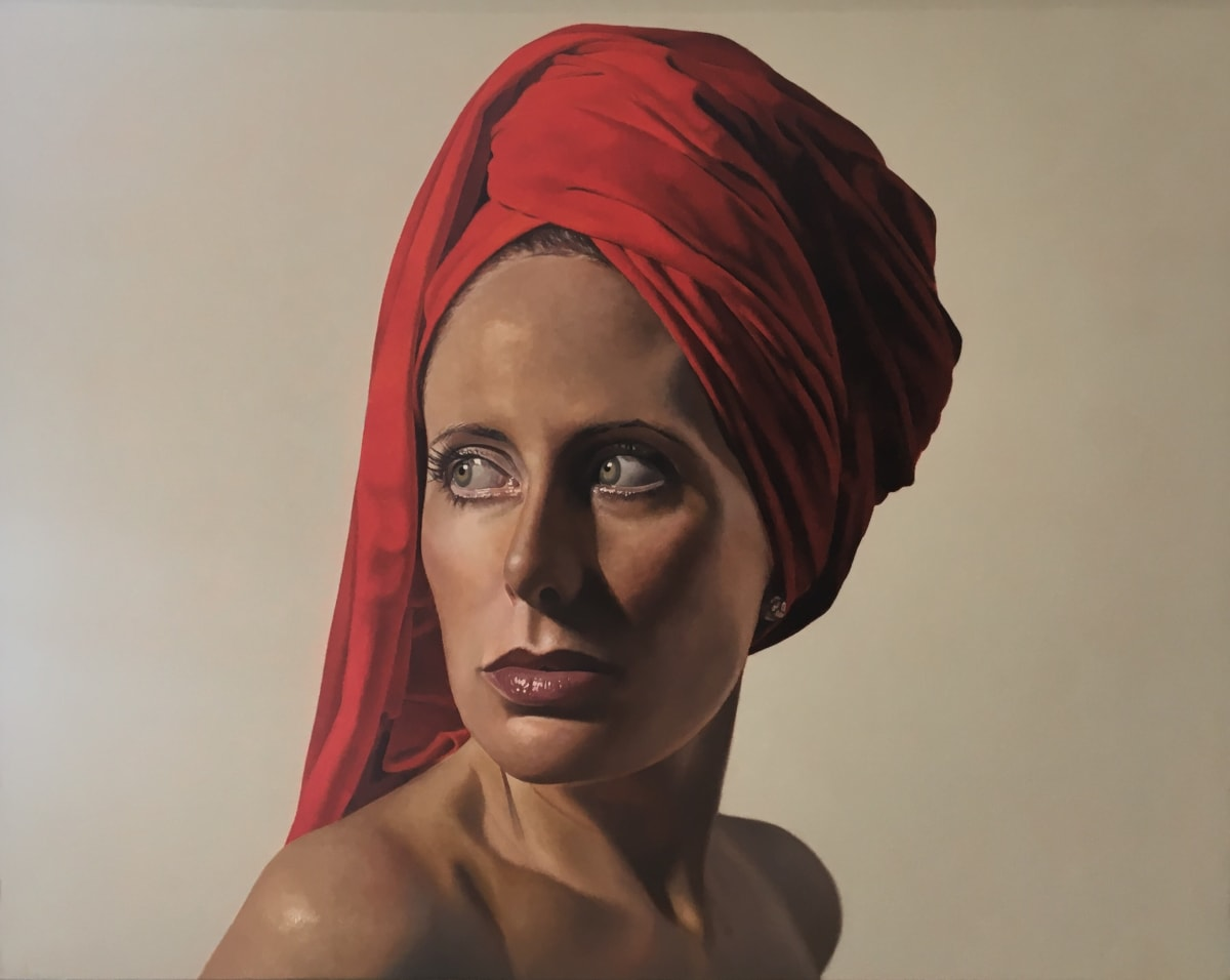 Toby Boothman Girl with the Red Turban Oil on canvas 73 x 97 cm