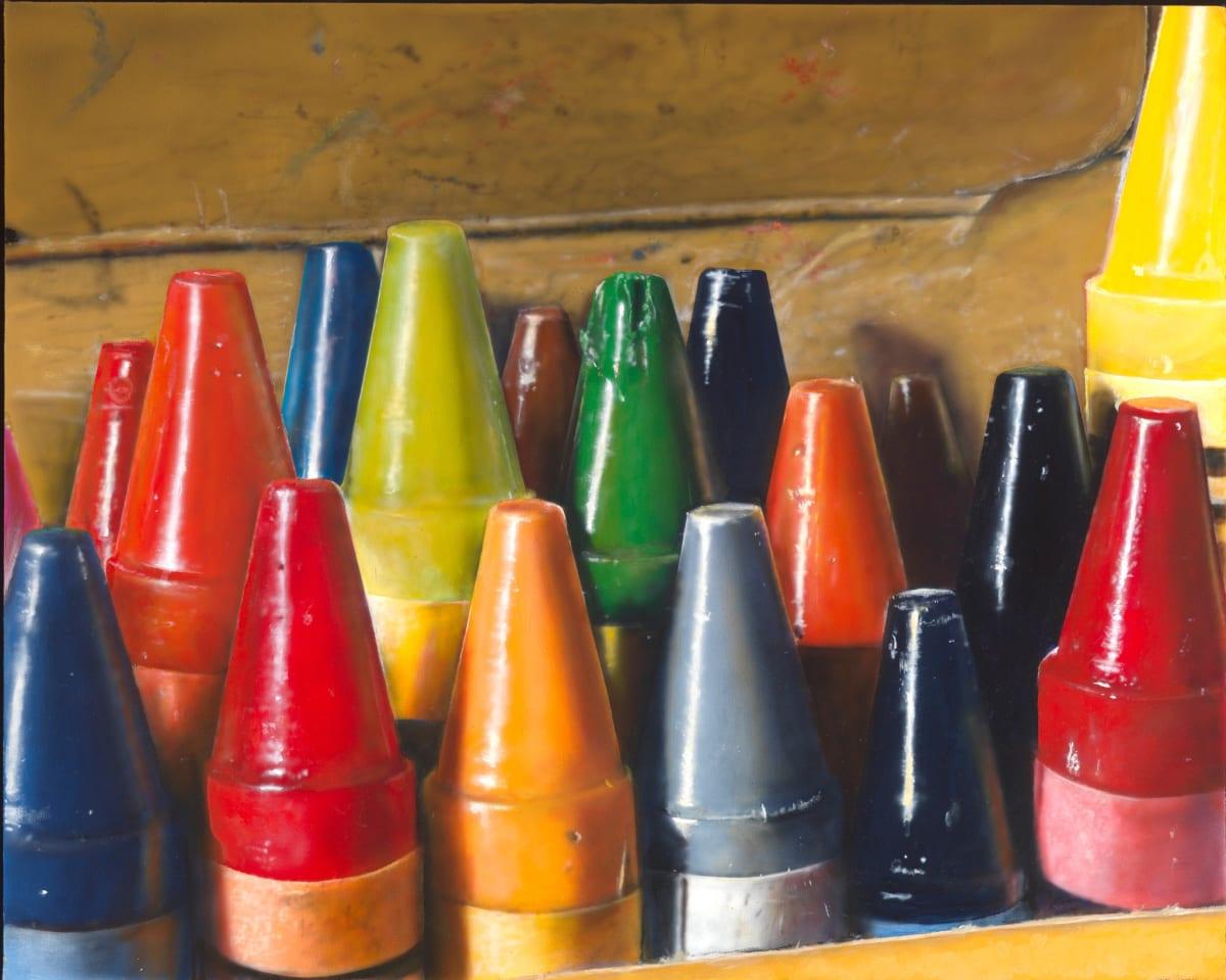 Cesar Santander Crayons oil and acrylic on canvas 24 x 30 cm