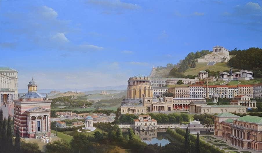 Carl Laubin Klenzeana, The Architecture of Leo von Klenze, 2016 Oil on canvas 140 x 240 cm