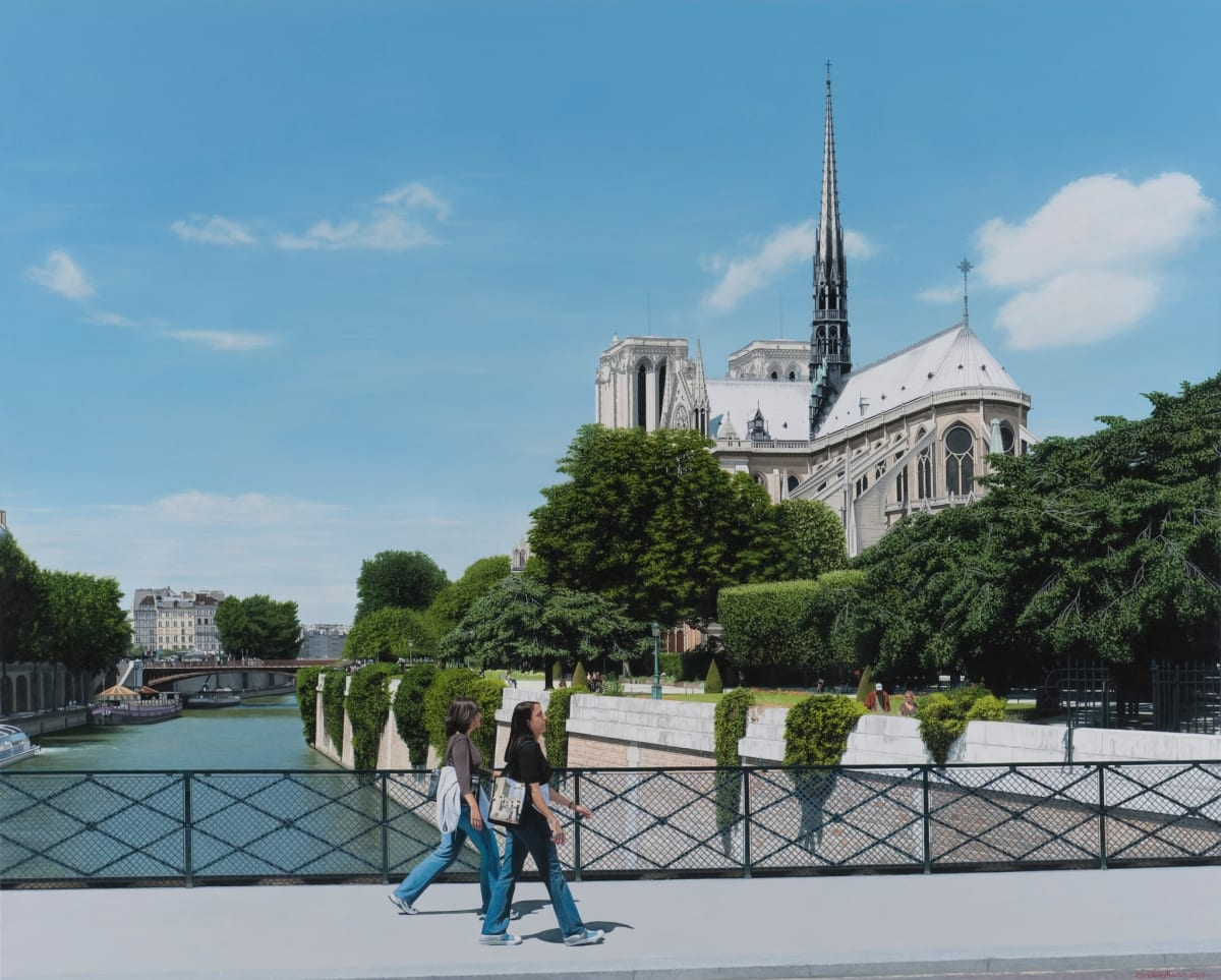 Christian Marsh Notre Dame, Paris Oil on canvas 47 x 79 150 x200 cm