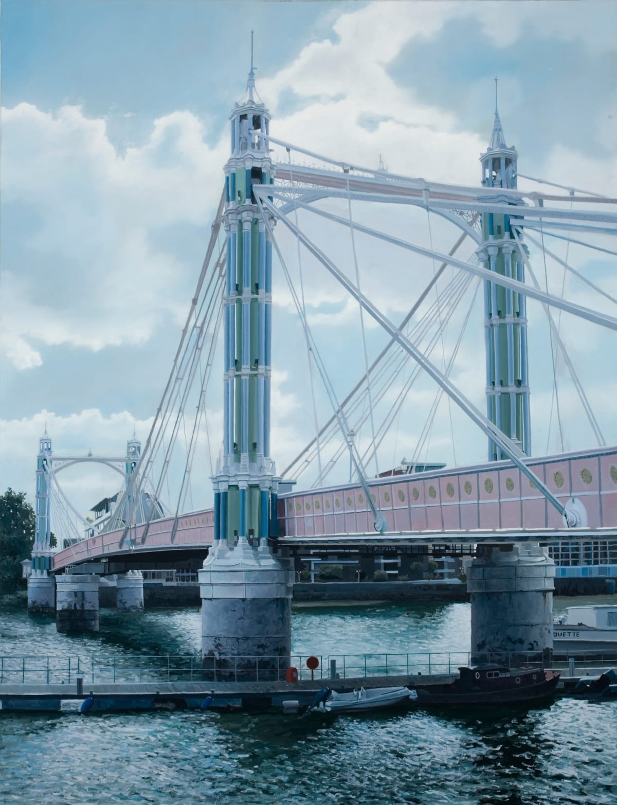 Francisco Rangel Albert Bridge oil on canvas 89 x 116 cm