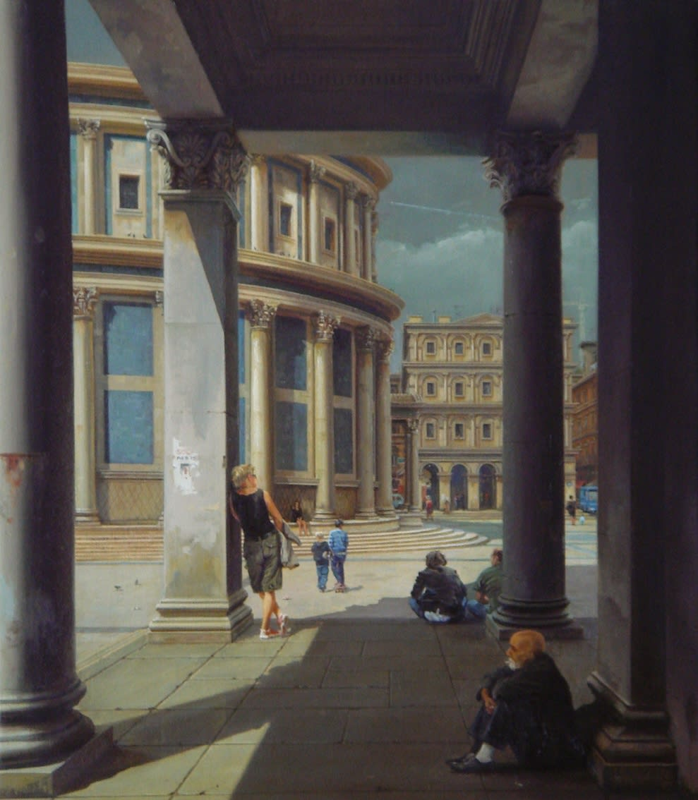 Carl Laubin Loggia by the Cathedral oil on canvas 58 x 50 cm