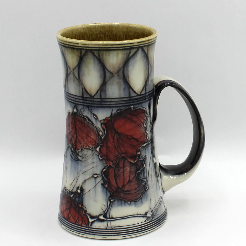 Dawn Candy, Red Leaf and Pattern Mug, 2020