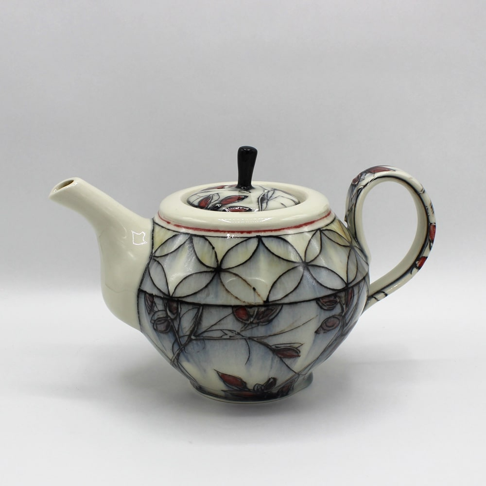 Dawn Candy, Red Leaf Teapot, 2020