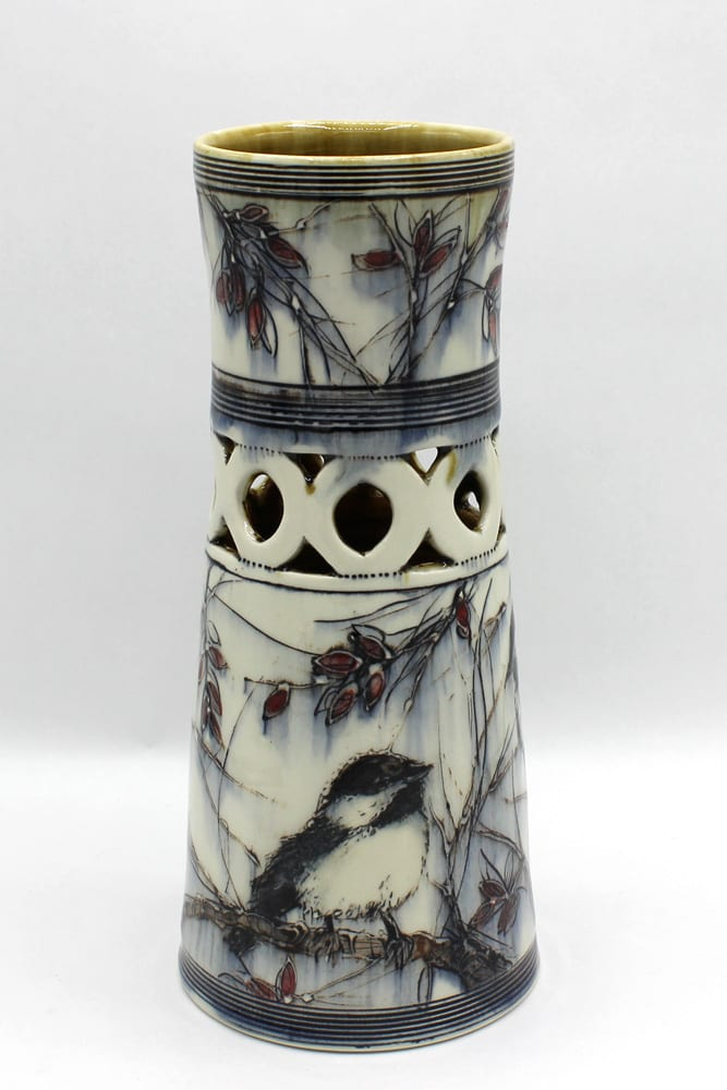 Dawn Candy, Chickadee Vase, 2020