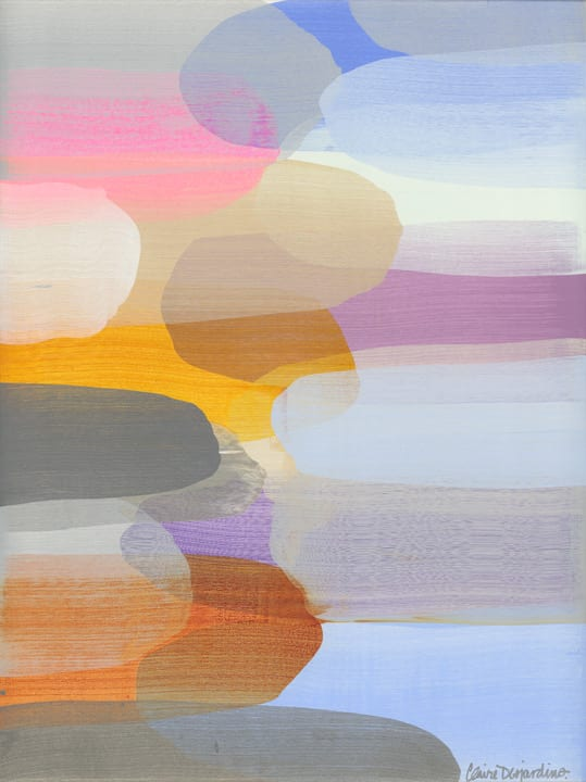 Claire Desjardins When the Sun Sets , 2020 Acrylic on Canvas 101.6 x 76.2 cm 40 x 30 in