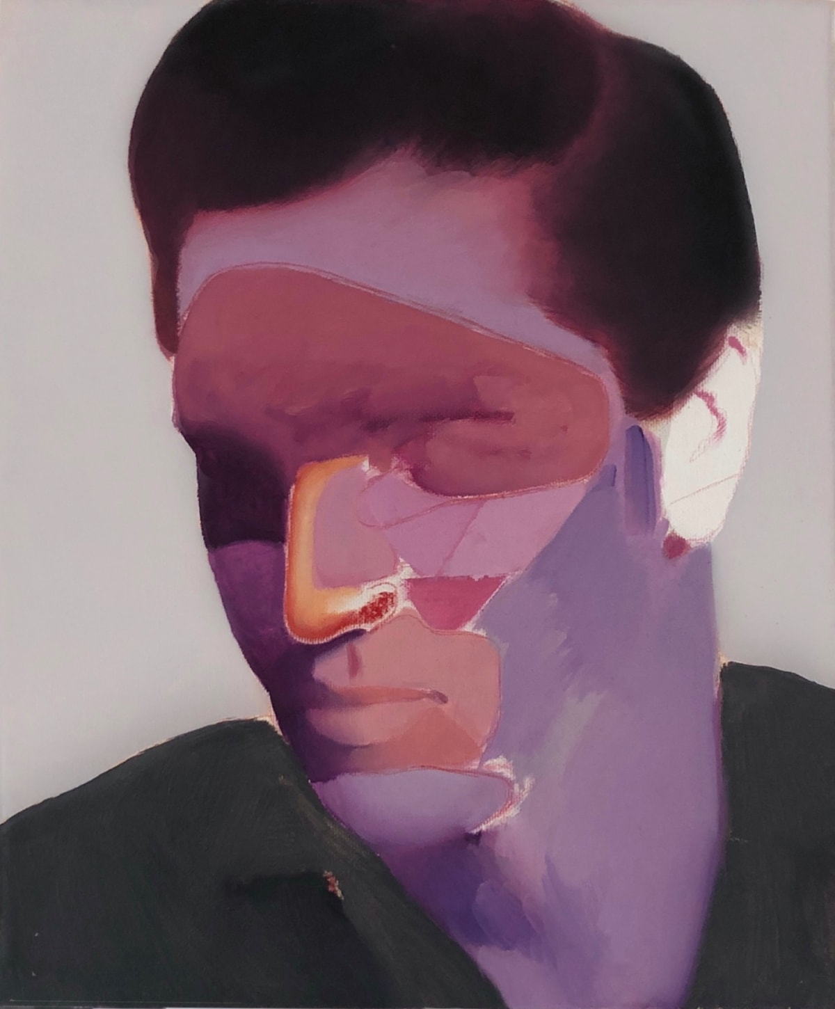 Matteo Venturi Elvis , 2019 Oil, Acrylic and Pastel on Canvas 31 x 37 cm 12 1/4 x 14 5/8 in