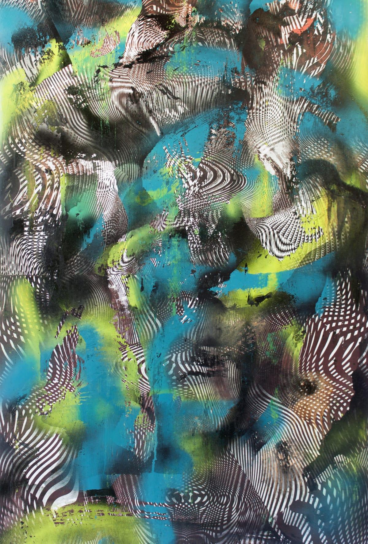 Chris Trueman NSHK, 2018 Acrylic Paint & Acrylic Spray Paint on Yupo 40 x 26 in 101.6 x 66 cm