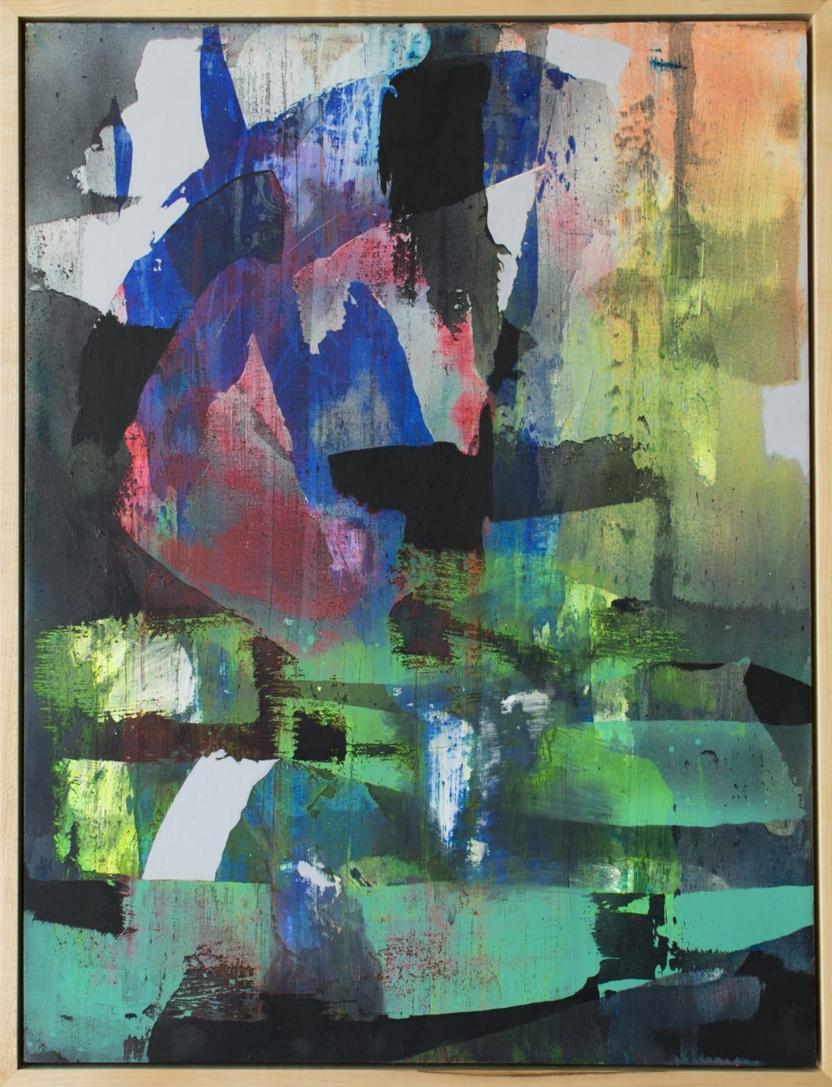 Chris Trueman VZ, 2018 Acrylic Paint & Acrylic Spray Paint on Yupo 26 x 19 1/2 in 66 x 50 cm