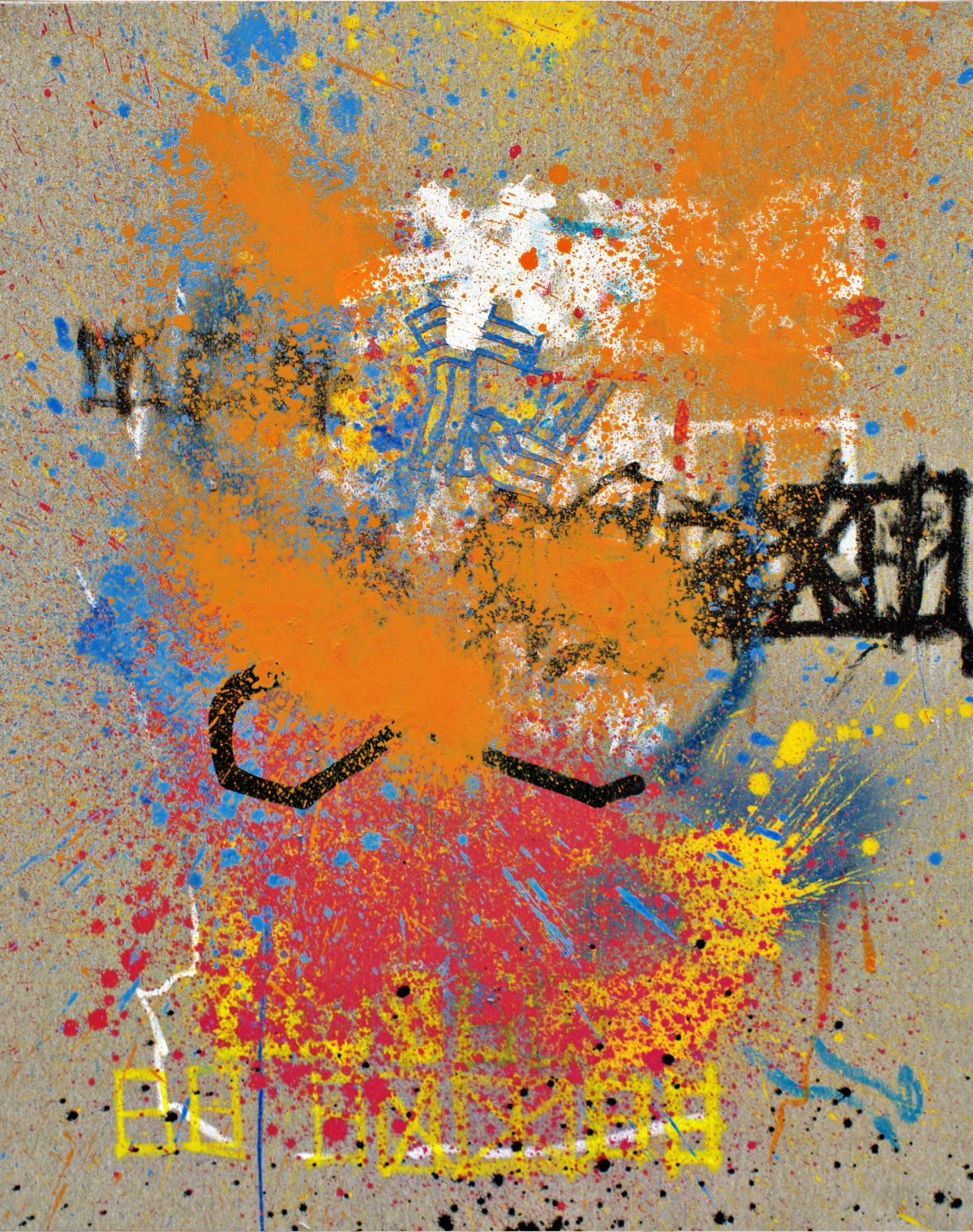 Danil Manzhos Number 11, 2018 Acrylic Paint compressed in fire extinguisher on Canvas 100 x 80 cm 39 1/2 x 31 1/2 in