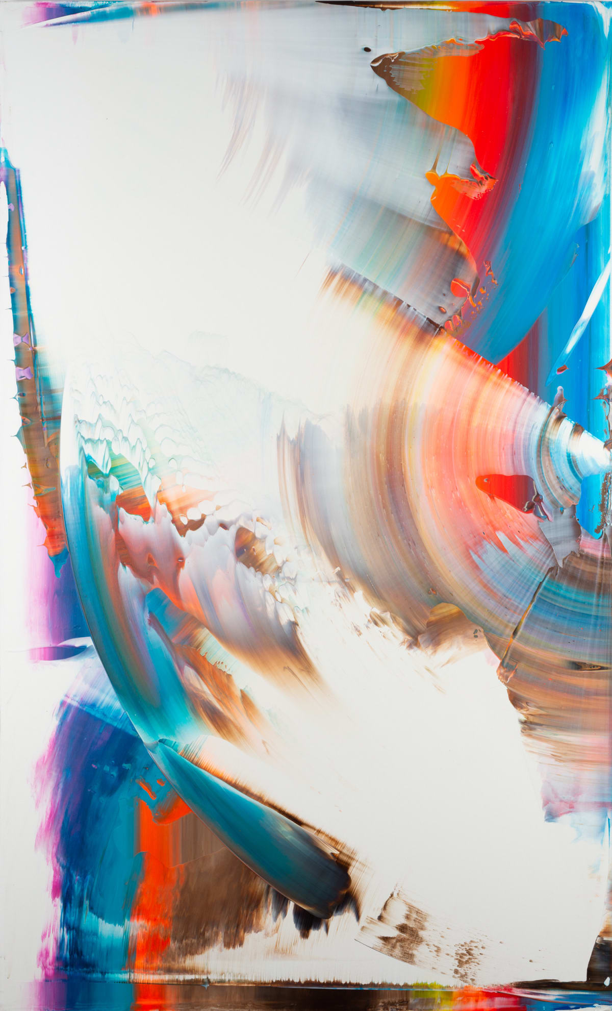 Alex Kuznetsov Untitled , 2016 Acrylic on Canvas 146 x 89 x 5 cm 57 1/2 x 35 1/8 x 2 in